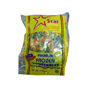Star Frozen Vegetable Peas , Carrot , Sweet Corn and Beans 1 Kg