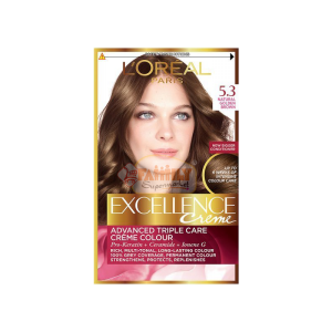loreal excellence creme 5.3 light golden brown