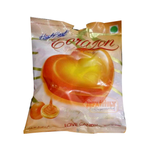 Heart Beat Love Candy Orange Pouch  150 gm