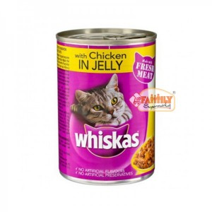 Whiskas Chicken  In Jelly 390 gm  Tin