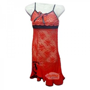 Women Short Nighty Red 26