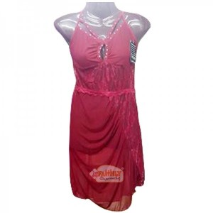 Women Short Nighty Maroon 26