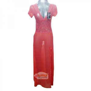 Women Long Nighty 2 Peach  28