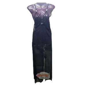 Women Long Nighty  Black 28