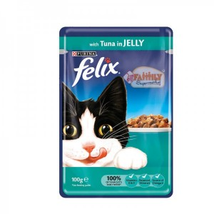 Felix Cat Food Tuna In Jelly 100 gm Pouch