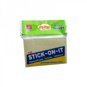 Uin Stick Notes Yellow  76mm x 51 mm