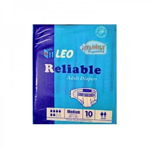 LEO RELIABLE ADULT DIAPERS MEDIUM  10 PCS