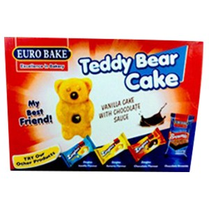 Euro Cake Teddy Bear box