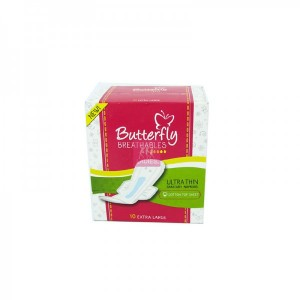 Butterfly Ultra Thin Extra Large 10 Pcs
