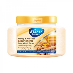 Karis Naturals Honey & Almonds Nourishing Face & Body Scrub 600 ml