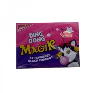 DING DONG BUBBLE GUM MAGIC STRAWBERRY BLACKCURRENT